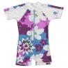 UV Badeanzug Baby Purple flower