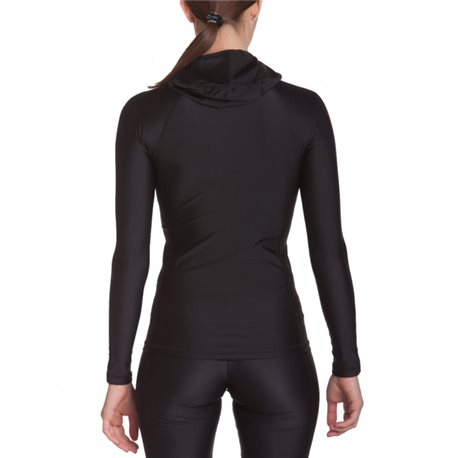 UV Shirt Dames Hoodie Zwart