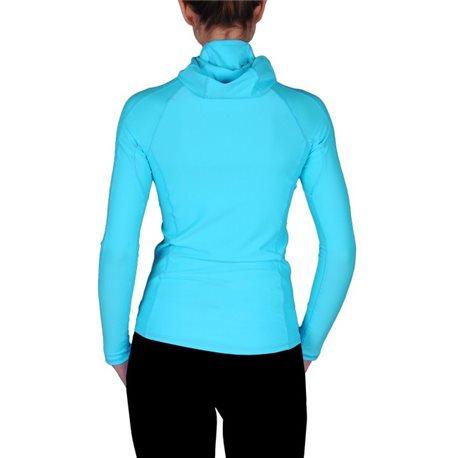 UV Shirt Dames Hoodie Turquoise