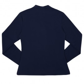 UV shirt Blue met rits; Moeder, UV shirt, UV shirt Moeders, UV zwemkleding volwassenen, Dames UV Shirts Petit Crabe