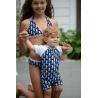 UV Badeanzug Baby Navy Seahorse