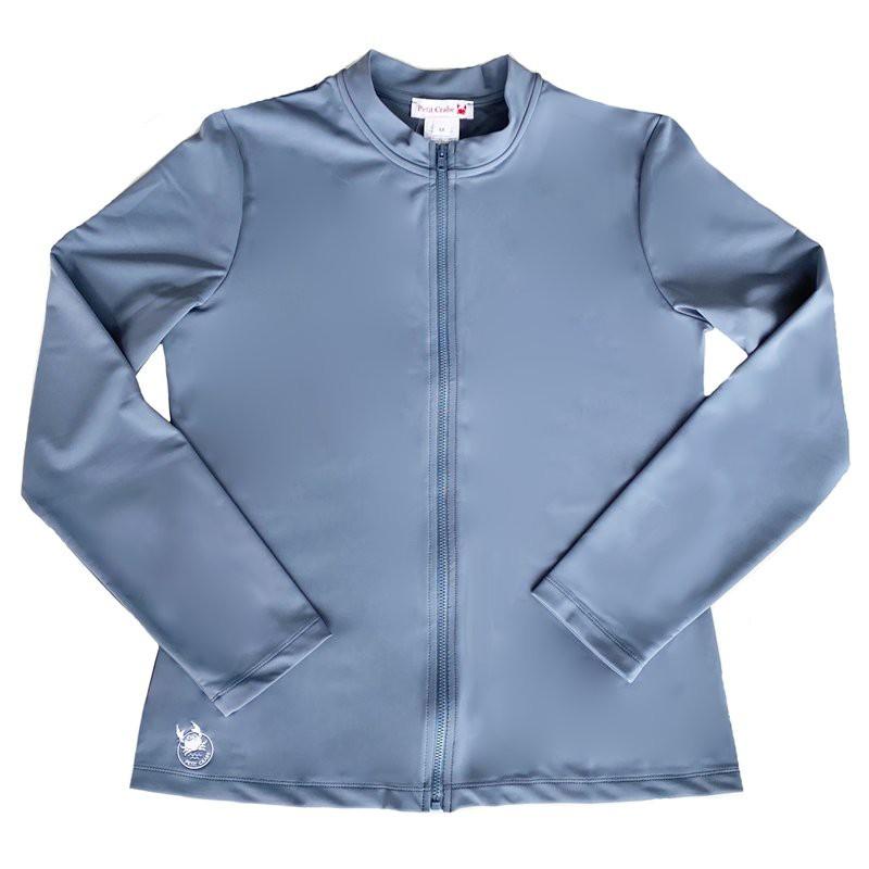 copy of UV shirt Blue met rits; Moeder, UV shirt, UV shirt Moeders, UV zwemkleding volwassenen, Dames UV Shirts Petit Crabe