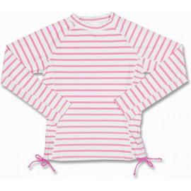 UV strandjurkje Roze met witte strepen
