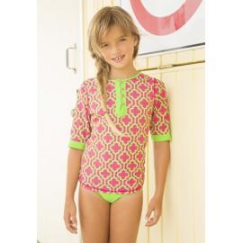 UV shirt en UV zwemshort pink Lady