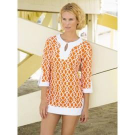 UV shirt orange beach