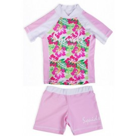 UV Shirt Funky Flower und Badehose Pink