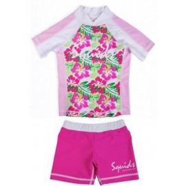 UV Shirt Funky Flower und Badehose Pink Power