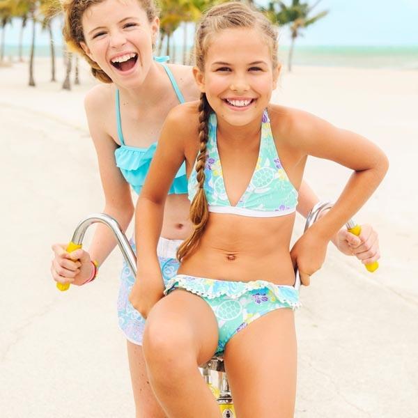 Mädchen Bikini Sea Turtle