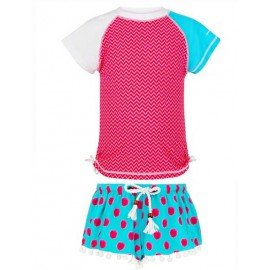 UV Shirt und Badeshort Aquaberry