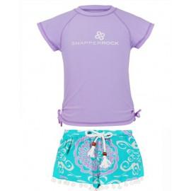 UV Shirt Lavender und Badeshort Medailon