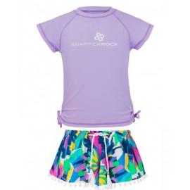 UV shirt lavender en zwemshort Tropical