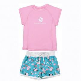 UV Shirt Rosa und Badeshort Vintage