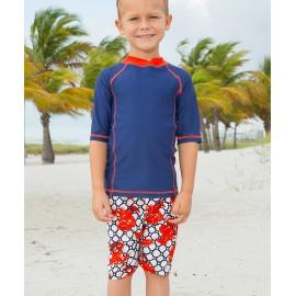 UV shirt en boardshort blue lobster