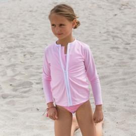 UV Shirt mit langem Arm - Reißverschluss - Ballerina