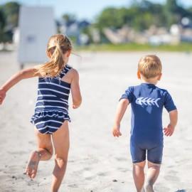 UV shirt met rits lange mauwen - Blauw