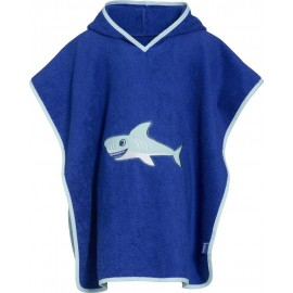 Poncho marine (blauw met wit)