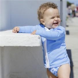 UV Shirt mit langem Arm mit Reißverschluss - Sky