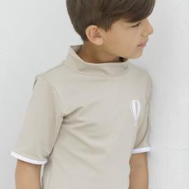 UV shirt Cappuccino| Schwimmshirt mit UV Schutz Petit Crabe