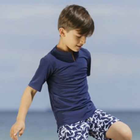 Schwimmshirt Blau | UV Shirt Blue Petit Crabe