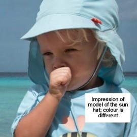 Baby Sonnenhut hellblau mit Nackenschutz