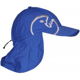 UV Kappe mit Nackenschutz blau | UV-Schutzkappe mit UPF80+