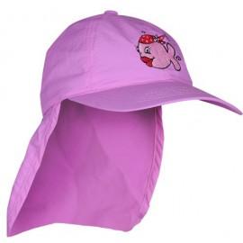 Mädchen UV-Kappe mit Nackenschutz | Sonnenhut mit Nackenschutz Pink IQ_UV