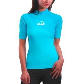 UV Shirt Damen türkis (Slim Fit) | Schwimmshirt Damen türkis mit UV Schutz