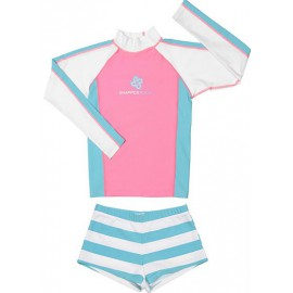 UV shirt & short Pink Aqua (lange mouw)