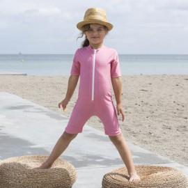 Badeanzug Pink Flowers | UV Anzug Pink Flowers