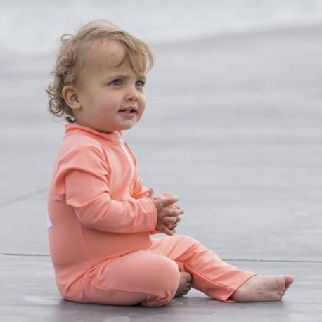 UV Anzug Coral mit langen Ärmeln und Beinen | Baby Anzug Coral