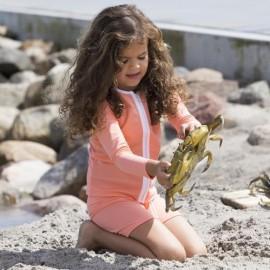 UV Shirt Coral mit langen Ärmeln | Mädchen Badeshirt