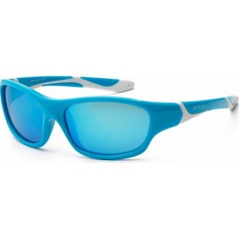 Zonnebril - Aqua & White - Ice Blue Revo - 6-10 years -Koolsun - SPORT