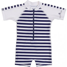 UV Badeanzug Baby Navy White stripes