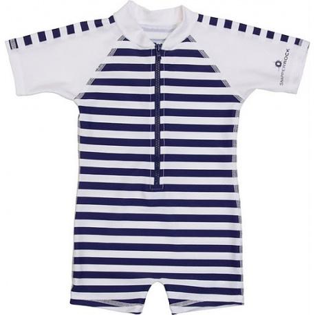 UV Badeanzug Baby Navy White stripes