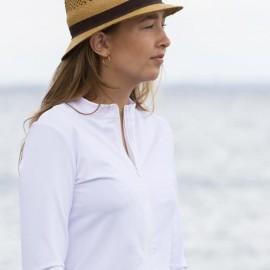 UV shirt Wit met rits