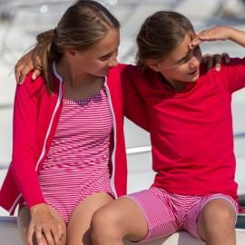 UV shirt Amaranth met rits - lange mouw