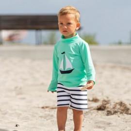 UV Shirt Aqua - lange mouw