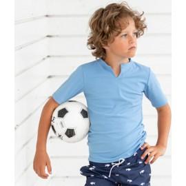 UV shirt Dusty Blue - korte mouw