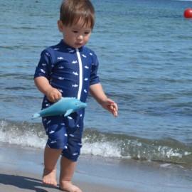UV Schwimmanzug Blue Ocean - Kurzarm - Petit Crabe
