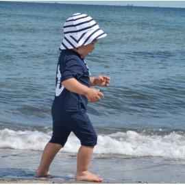 UV Schwimmanzug Blue Anchor - Kurzarm - Petit Crabe