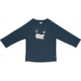 UV Shirt Whale Langarm blau