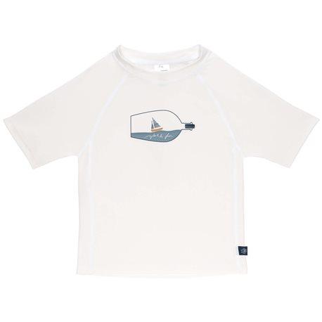 UV shirt Bottle -Kurzarm - weiß - Lassig
