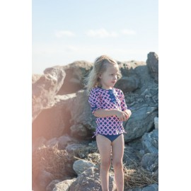 UV shirt en zwemshort Purple Dots